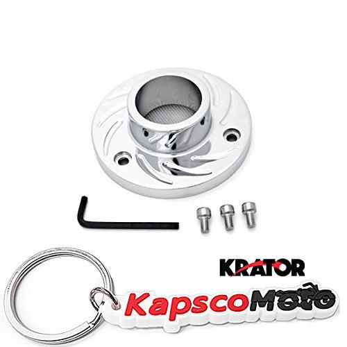 Krator 2001-2010 Honda Foreman 500 and Rubicon 500 FourTrax ATV Exhaust Tip Muffler Power Outlet Polished Chrome  KapscoMoto Keychain