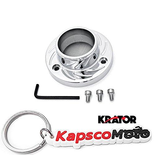 Krator Artic Cat DVX400 Kawasaki KFX400 Suzuki LT-Z400 ATV Exhaust Tip Muffler Power Outlet Polished Chrome  KapscoMoto Keychain