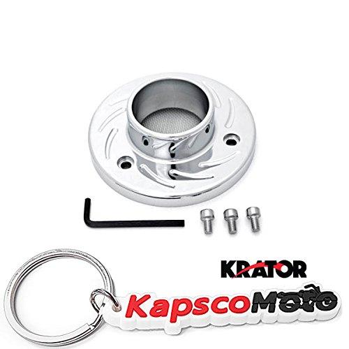 Krator Honda TXR450R ATV Exhaust Tip Muffler Power Outlet Polished Chrome  KapscoMoto Keychain
