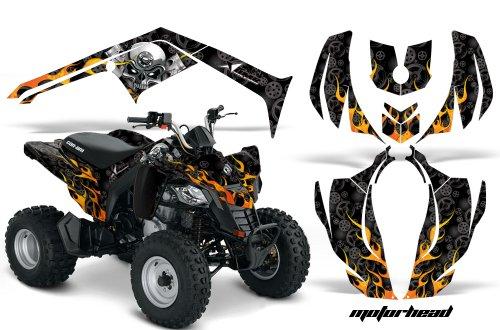 AMR Racing Graphics Can-Am DS-250 2006-2016 ATV Vinyl Wrap Kit - Motorhead Black