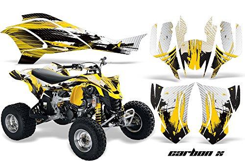 AMR Racing Graphics Can-Am DS-450 2008-2016 ATV Vinyl Wrap Kit - Carbon X Yellow