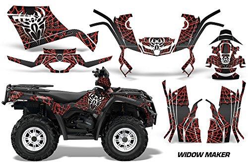 AMR Racing Graphics Can-Am Outlander 400 2009-2014 ATV Vinyl Wrap Kit - Widow Maker Red Black