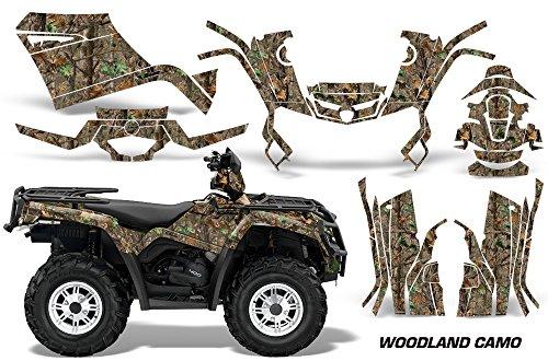 AMR Racing Graphics Can-Am Outlander 400 2009-2014 ATV Vinyl Wrap Kit - Woodland Camo