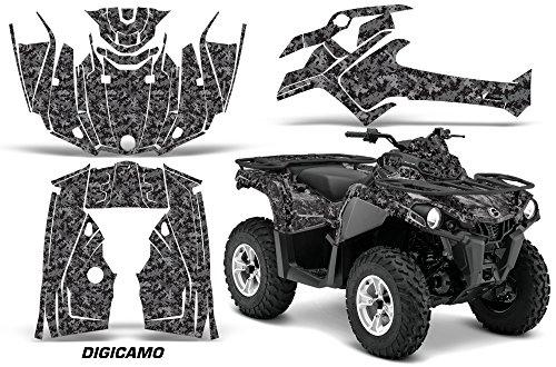 AMR Racing Graphics Can-Am Outlander L 2014-2015 ATV Vinyl Wrap Kit - Digicamo Black