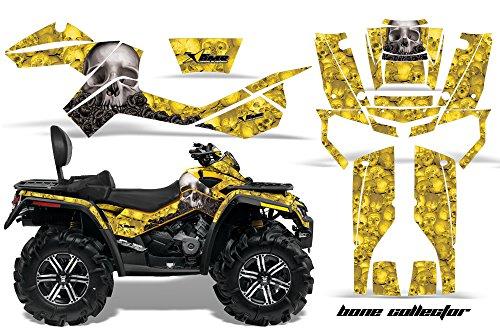 AMR Racing Graphics Can-Am Outlander MAX 500 650 800R 2006-2012 ATV Vinyl Wrap Kit - Bone Collector Yellow