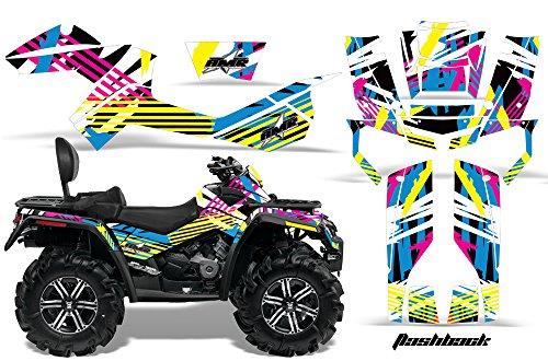 AMR Racing Graphics Can-Am Outlander MAX 500 650 800R 2006-2012 ATV Vinyl Wrap Kit - Flashback
