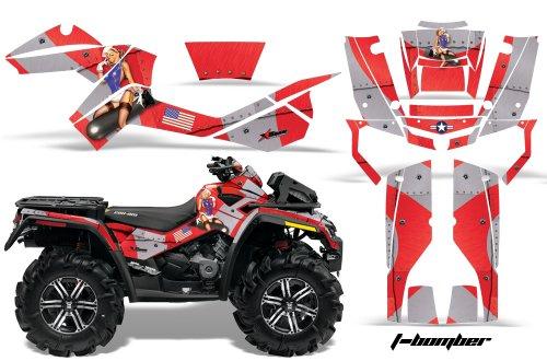 AMR Racing Graphics Can-Am Outlander XMR 500 650 800R 2006-2012 ATV Vinyl Wrap Kit - T-Bomber Red