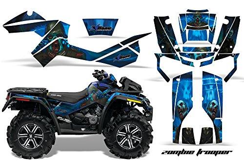 AMR Racing Graphics Can-Am Outlander XMR 500 650 800R 2006-2012 ATV Vinyl Wrap Kit - Zombie Trooper Blue