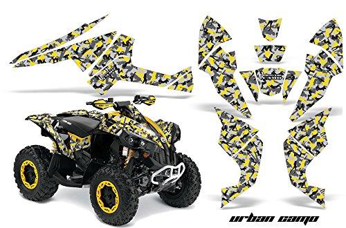 AMR Racing Graphics Can-Am Renegade 800 XR All Years ATV Vinyl Wrap Kit - Urban Camo Yellow