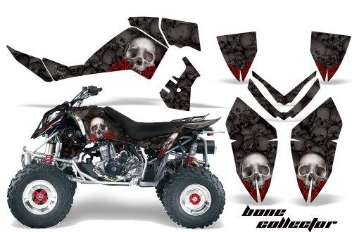 AMRRACING Polaris Outlaw 500 525 2006-2008 Full Custom ATV Graphics Decal Kit - Bone Collector Black