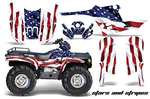 AMRRACING Polaris Sportsman 400500600700 1995-2004 Full Custom ATV Graphics Decal Kit - Stars and Stripes