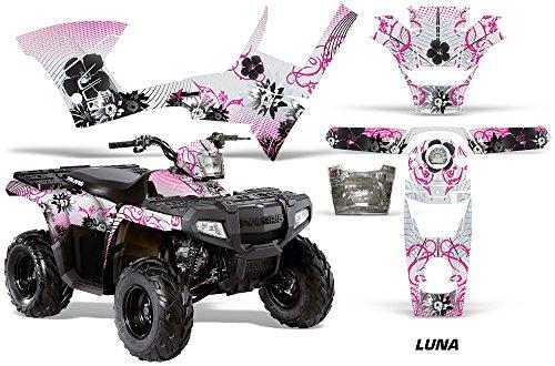 AMRRACING Polaris Sportsman 90 2006-2016 Full Custom ATV Graphics Decal Kit - Luna Pink