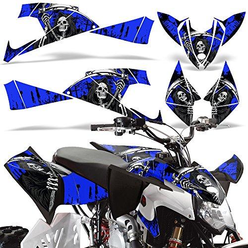 Polaris Outlaw450 Outlaw525 2009-2012 Decal Graphics Kit ATV Quad Wrap Parts Deco REAPER BLUE
