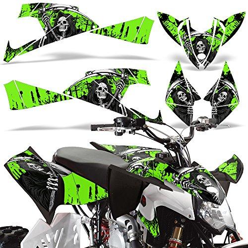 Polaris Outlaw450 Outlaw525 2009-2012 Decal Graphics Kit ATV Quad Wrap Parts Deco REAPER GREEN