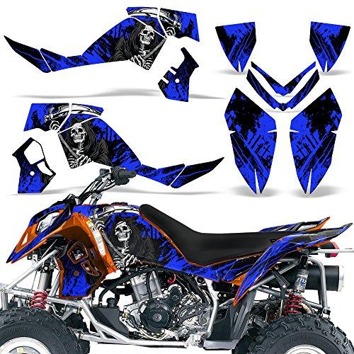 Polaris Outlaw500 Outlaw525 2006-2008 Decal Graphic Kit ATV Quad Wrap Deco Outlaw 500 525 REAPER BLUE