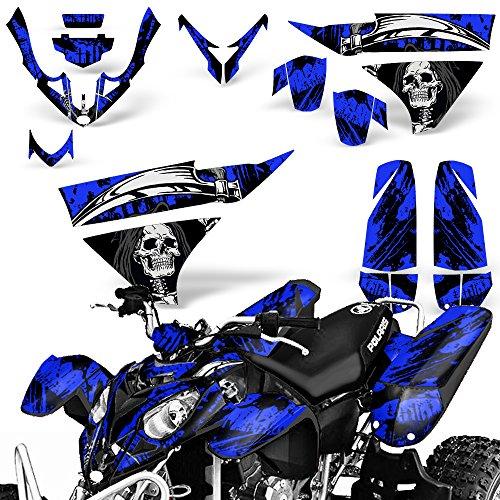 Polaris Predator500 2003-2007 Graphic Kit ATV Quad Wrap Decal Deco Predator 500 REAPER BLUE
