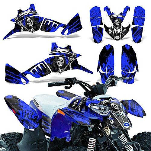 Polaris Predator90 2007-2014 Graphic Kit ATV Quad Wrap Decal Deco Predator 90 REAPER BLUE