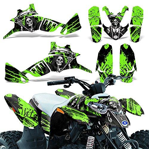 Polaris Predator90 2007-2014 Graphic Kit ATV Quad Wrap Decal Deco Predator 90 REAPER GREEN