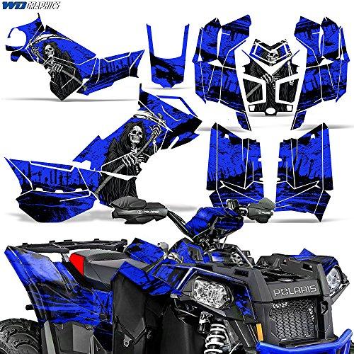 Polaris Scrambler 8501000 XP 2013-2016 Decal Graphic Kit ATV Quad Wrap Deco REAPER BLUE