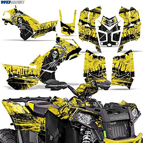 Polaris Scrambler 8501000 XP 2013-2016 Decal Graphic Kit ATV Quad Wrap Deco REAPER YELLOW