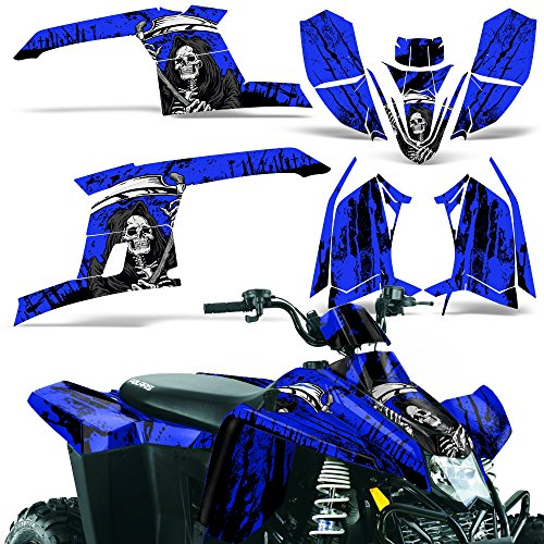 Polaris Trailblazer330 2010-2013 Decal Graphic Kit ATV Quad Wrap Part Deco Trailblazer 330 REAPER BLUE