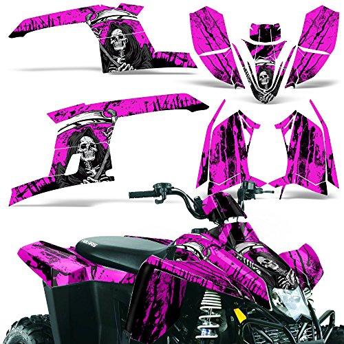 Polaris Trailblazer330 2010-2013 Decal Graphic Kit ATV Quad Wrap Part Deco Trailblazer 330 REAPER PINK
