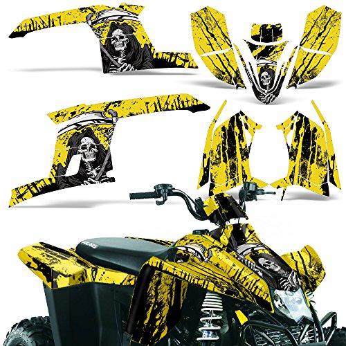Polaris Trailblazer330 2010-2013 Decal Graphic Kit ATV Quad Wrap Part Deco Trailblazer 330 REAPER YELLOW