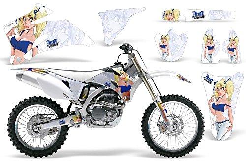 Mandy-AMRRACING MX Graphics decal kit fits Yamaha YZ250F YZ450F 2006-2009-Blue-White-BG
