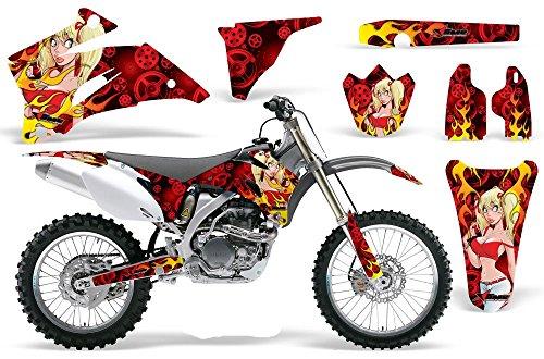 Motorhead Mandy-AMRRACING MX Graphics decal kit fits Yamaha YZ250F YZ450F 2006-2009-Red
