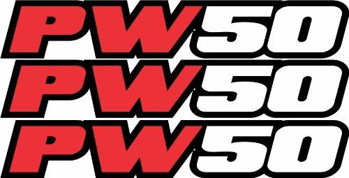 Pw50 Swingarm Airbox Red Decal Stickers Pw 50 Dirtbike ATV Quad Racing Mx Graphics