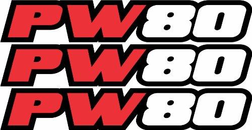 Pw80 Swingarm Airbox Red Decal Stickers Pw 80 Dirtbike ATV Quad Racing Mx Graphics