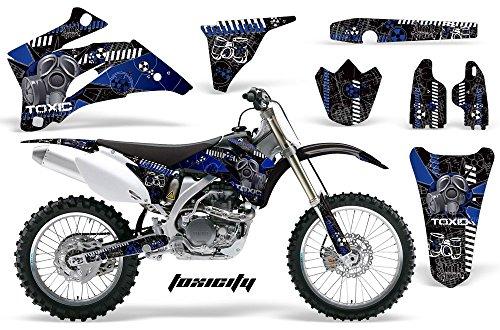 Toxicity-AMRRACING MX Graphics decal kit fits Yamaha YZ250F YZ450F 2006-2009-Blue-Black-BG