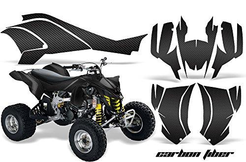 AMR Racing Graphics Can-Am DS-450 2008-2016 ATV Vinyl Wrap Kit - Carbon Fiber Black