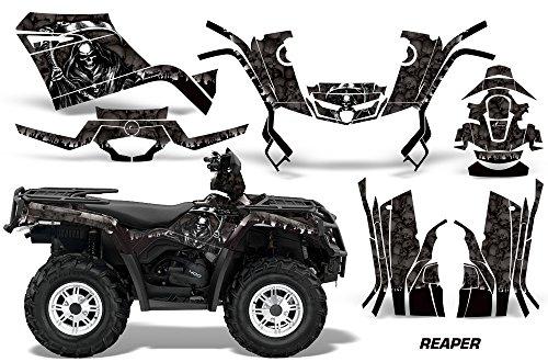 AMR Racing Graphics Can-Am Outlander 400 2009-2014 ATV Vinyl Wrap Kit - Reaper Black