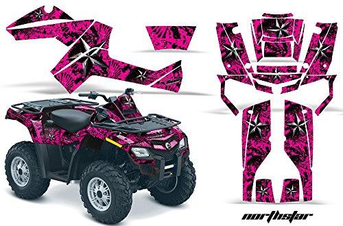 AMR Racing Graphics Can-Am Outlander EFI 500 650 800R 1000 2006-2011 ATV Vinyl Wrap Kit - Northstar Pink