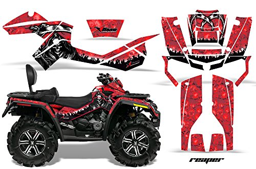 AMR Racing Graphics Can-Am Outlander MAX 500 650 800R 2006-2012 ATV Vinyl Wrap Kit - Reaper Red