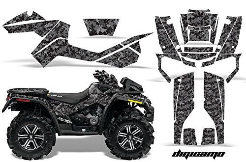 AMR Racing Graphics Can-Am Outlander XMR 500 650 800R 2006-2012 ATV Vinyl Wrap Kit - Digicamo Black