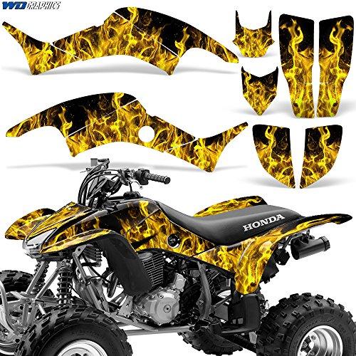Honda TRX400EX 1999-2007 Graphic Kit ATV Quad Decal Sticker TRX 400 EX FLAMES YELLOW