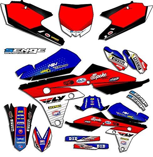 Senge Graphics 2000-2008 Yamaha TTR 90 Ricochet Blue Graphics Kit