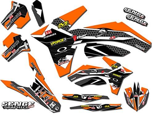 Senge Graphics 2011-2012 KTM SXF Podium Orange Graphics Kit