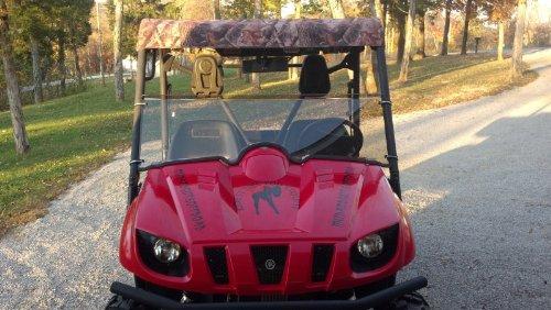 Yamaha Rhino 450660700 Clear Half WindshieldA Full 14 THICK