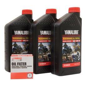 Yamalube Oil Change Kit 10W-40 for Yamaha RHINO 700 FI 4x4 Auto 2008-2009
