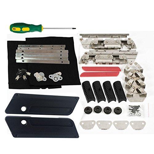 Saddlebags HardBag Hardware Kit Rubber Cushion Black Metal Latch Covers Lids Saddlebag Locks for Harley 93-13