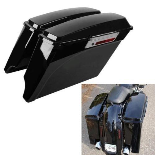 TCMT 5Stretched Hard Saddle Bags Latch For Harley Street Glide Road King 1993-2013