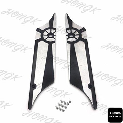 HongK- CNC Hard Billet Aluminum Saddlebag Latch Cover Wheel For Harley Touring 93-13