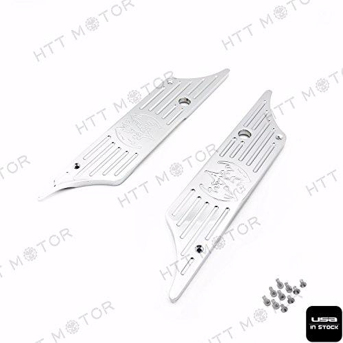 XKMT Group CNC Hard Billet Aluminum Saddlebag Latch Cover Bat For Harley Touring 93-13 Chrome