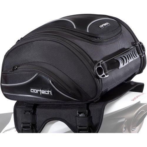 Cortech Super 20 24-Liter Motorcycle Tail Bag - Black  134 L x 142 W x 75 D