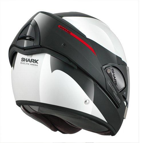 Shark Evoline Series 3 Hakka Helmet WhiteBlackRed X-Large