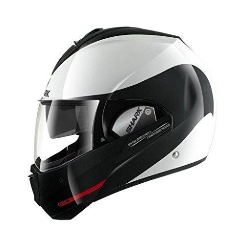 Shark Evoline Series 3 Hakka White Black Red Modular Motorcycle Helmet Size Medium