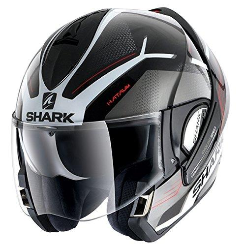 Shark Evoline Series 3 Hataum Black White Red Helmet XL